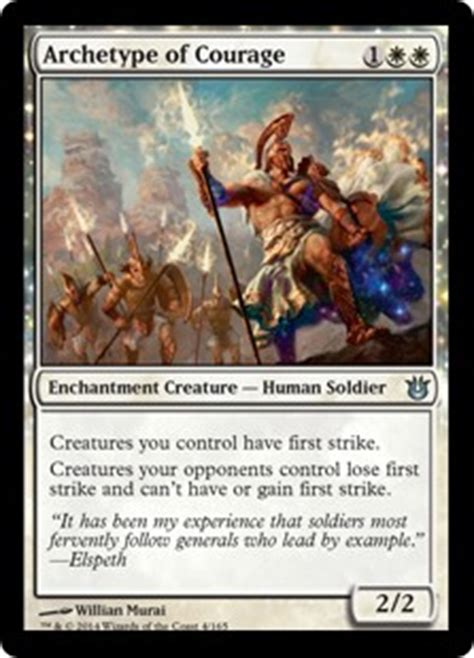 Mtg Deck Archetypes Modern by Archetype Of Courage Born Of The Gods Community