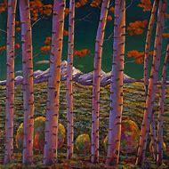 Acrylic Paintings of Aspen Trees