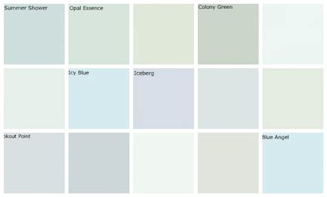 pale blue green paint colors light blue paint colors designers favorites top row