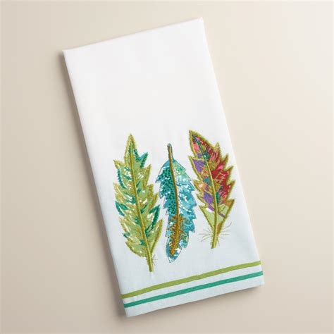 Kitchen Towel by Embroidered Feathers Kitchen Towel World Market