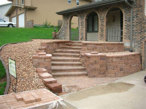 retaining wall patio design retaining walls portfolio of images omaha landscape design