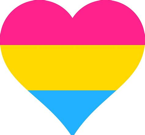 50 inch wall clock quot pansexual pride flag shape quot stickers by seren0