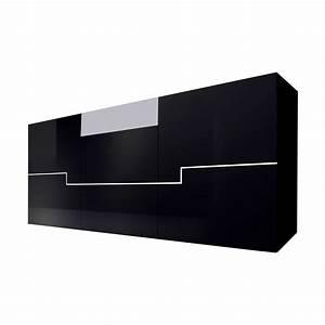 Sideboard Blackdream Hochglanz Schwarz/Weiß Schrank