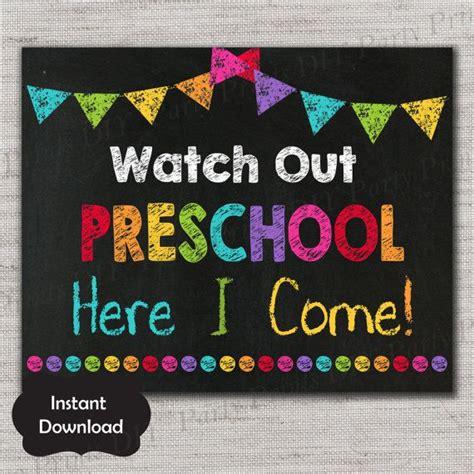 day of preschool sign day of preschoo 771   2c275b932c26fc7e6f40f460ff81cbc5