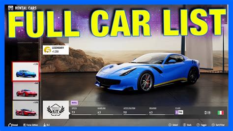 Cars List by Forza Motorsport 7 Car List Dlc Cars Forza