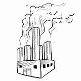Factory Air Sketch Polluting Pollution Coloring Pages Illustration Vector Water Printable Fortune Print Depositphotos Getcolorings Doodle Industrial Pollutio sketch template