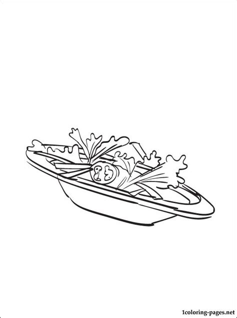 salad coloring page coloring pages