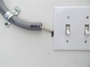 Wiring Runs Through Wall Improperly