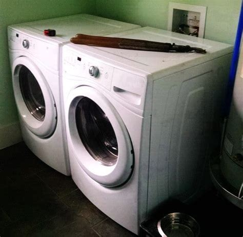 washer and dryer countertop diy laundry room countertop washer dryer