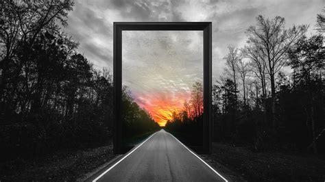 matrizen design photo manipulation frame road