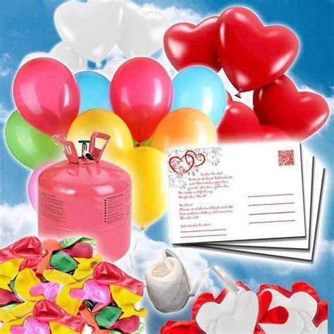 luftballon helium set helium luftballons set mit karten fertig f 252 r hochzeit