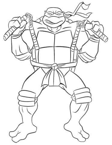ausmalbild michelangelo ninja turtle ausmalbilder