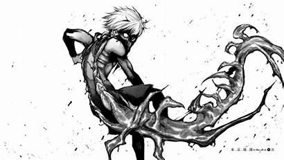 Ghoul Kaneki Tokyo Manga Ken Monochrome Background