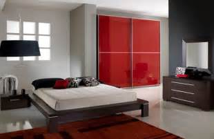 minimalist black and red bedroom ideas