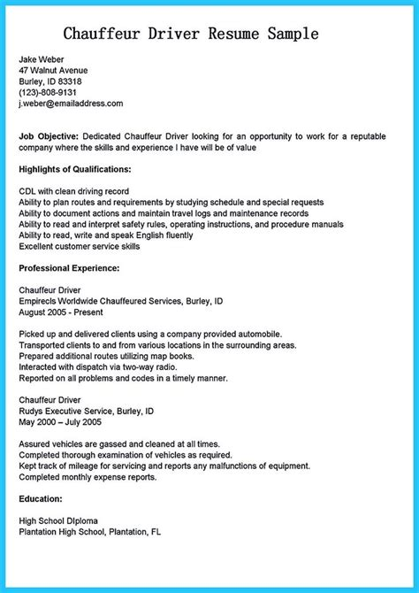 Driver Description Resume by The 192 Best Images About Resume Template On