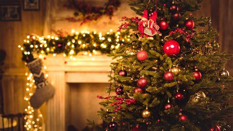 wallpaper christmas  year gifts fir tree fireplace