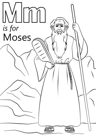 letter    moses coloring page  printable coloring pages