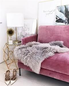Samt Sofa Rosa : samt sofa fluente 3 sitzer rosa samt samt sofa und sofa ~ Frokenaadalensverden.com Haus und Dekorationen