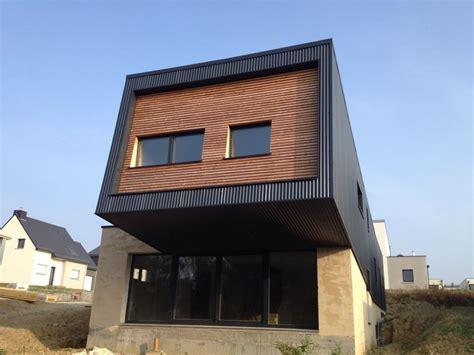 maison bois ille et vilaine maison ossature bois bardage bac acier et voie douglas en ille et vilaine 35