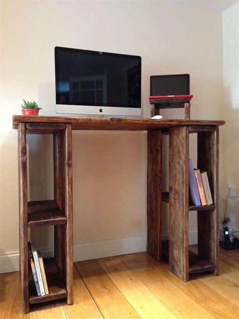 rustic standing desk stand  desk  reclaimed wood