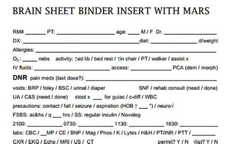 Hospital Rounding Sheet