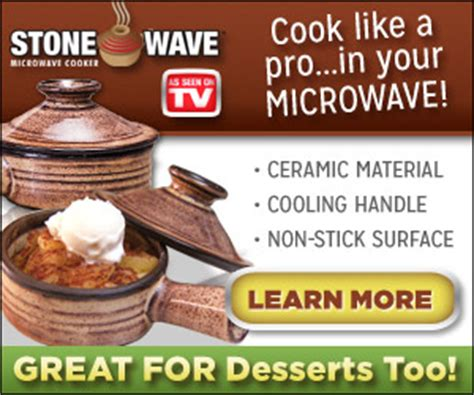 stone wave microwave dome cookware    tv