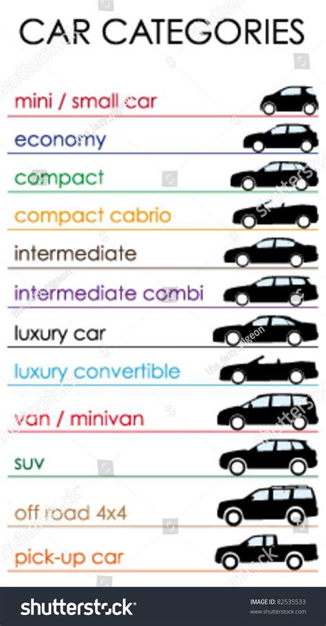 Car Categories Stock Vector 82535533 Shutterstock
