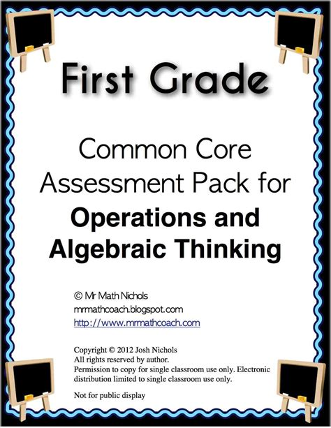 Math First Grade Common Core Assessments  Teaching Times 2 2nd Grade Common Core Math