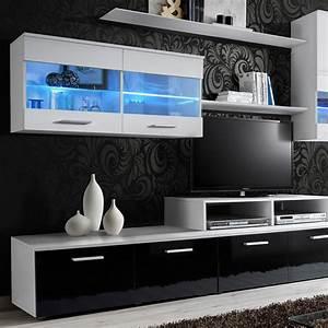 Meuble Tv 250 Cm : meuble tv mural design 39 logo 250cm blanc ~ Teatrodelosmanantiales.com Idées de Décoration