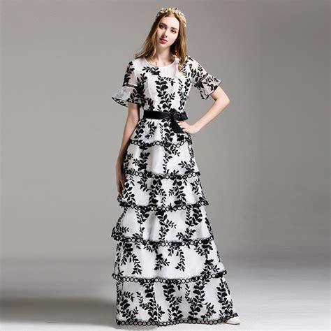 Cascading Ruffle Fashion Maxi Summer Vestido 2017 New