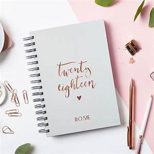 Personalised Script 2018 Weekly Diary By Martha Brook