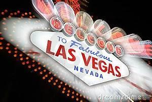 Wel e To Las Vegas Neon Sign Nevada USA Stock