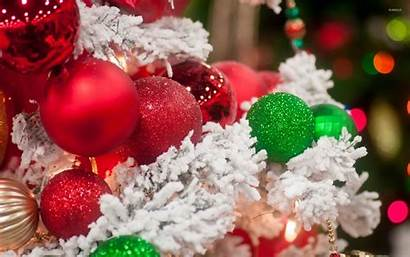 Christmas Tree Desktop Wallpapers Snowy Sparkly Themes