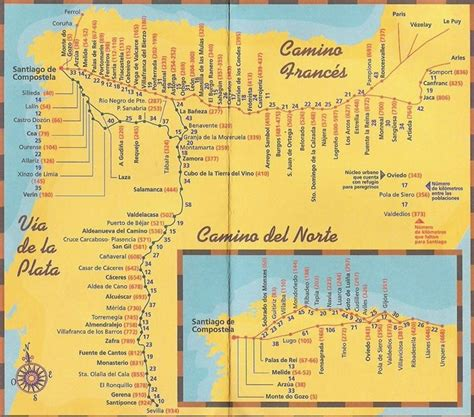 camino de santiago maps  camino frances map