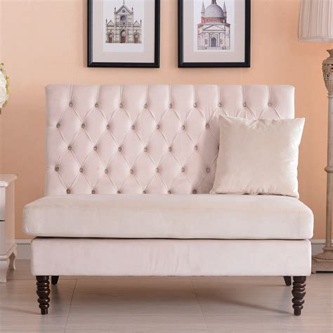 high back tufted sofa new modern tufted settee bedroom bench sofa high back