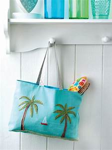 Embroidered Beach Bag - Free Sewing Patterns