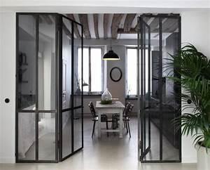 separation de cuisine en verre cheap vitrail de sparation With separation vitree cuisine salon