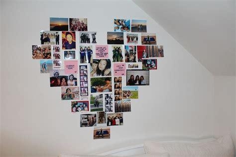 Fotos An Der Wand Gestalten by So K 246 Nnen Sie Eine Fotowand Herz Mit Lieblingsfotos Selber