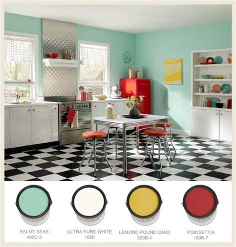 retro kitchen colors colorfully behr 50s nostalgia 1932