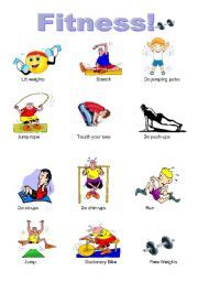 fitness pictures esl worksheet by stephy1013