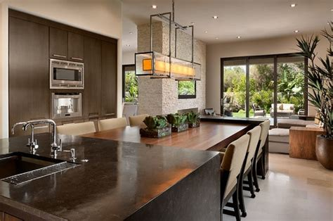 Islands Dining Room by Kitchen Island With Attached Table Design Pictures