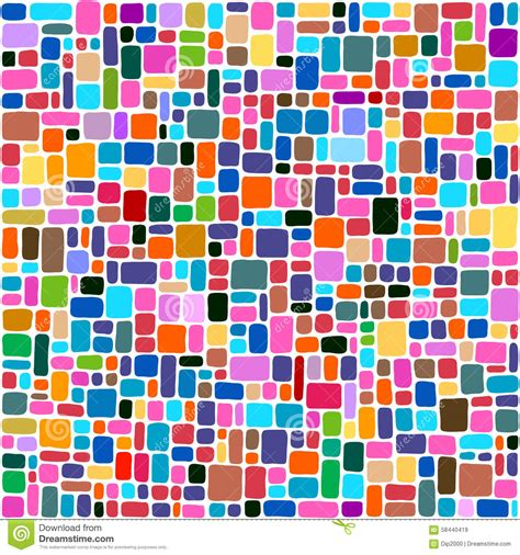 tiles abstract background colorful mosaic stock vector