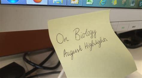 August Biology Highlights