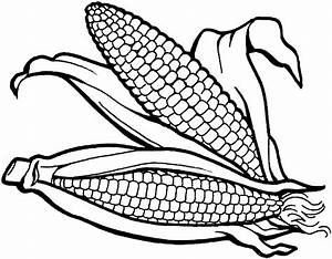 coloring page of corn - thanksgiving preschool coloring pages craftshady