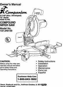 Companion 137245130 User Manual 2 5 Hp 10 Blade Compound