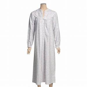 "Lanz Flannel 50"" Nightgown (For Women) 16742 - Save 45%"