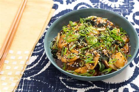 recipe korean rice cakes  shiitake mushrooms napa