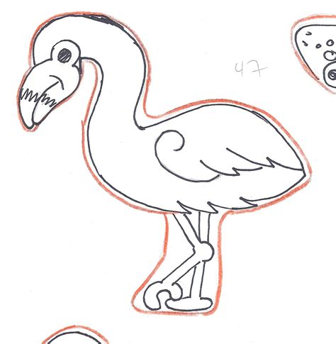 flamingo template montreal confections wilton animal cutter set outline template ideas