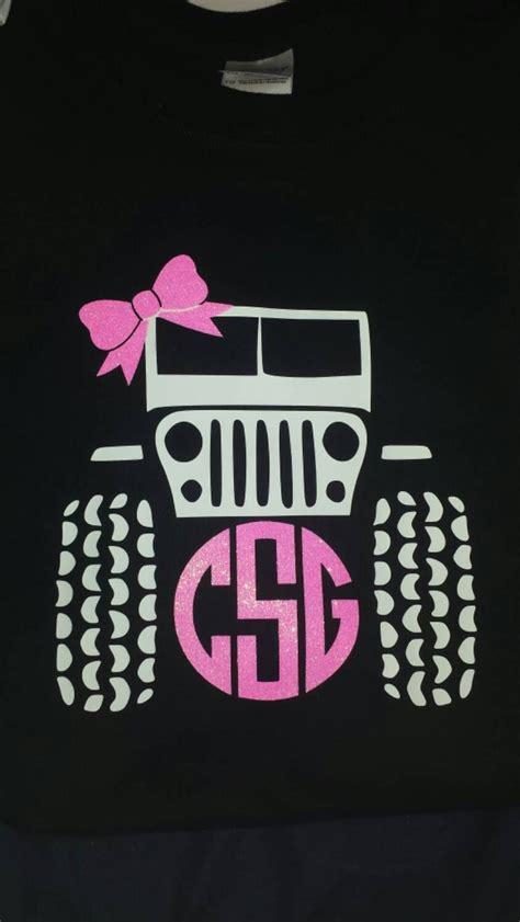 cute monogrammed jeep  shirt vinyl monogram monogram monogram shirts