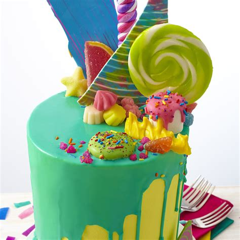 bold bright candy explosion cake wilton